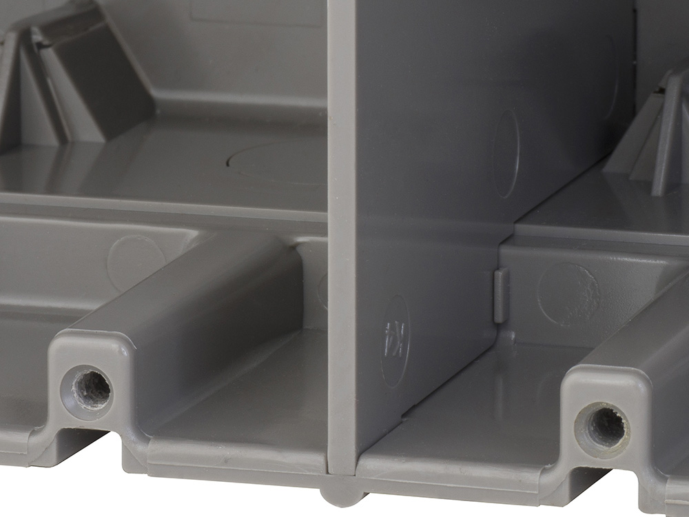 Low voltage wall dividers allow for mixed voltages in the same box